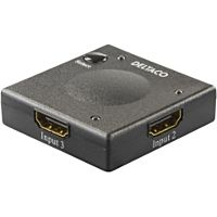DELTACO HDMI-7002 - HDMI kytkin 3 -> 1 automaattinen