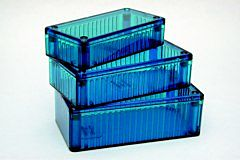 HAMMOND 1591DTBU - POLYKARBONAATTI 150x80x46mm, ICE BL