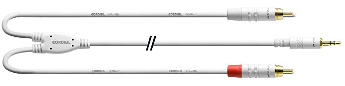 CORDIAL CFY3WCC-SNOW - 3,5mm Stereoplug - 2  x RCA U 3m Va