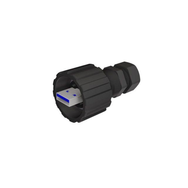 CONEC 17-240071 - USB A 3.0 cable plug IP67 bayonet