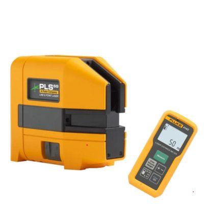 FLUKE PLS 6G Z - Ristilinja- ja pistelasertyökalu ja FLUKE 414D Laser-etäisyysmittari max 50m