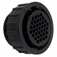 TE 182647-1- AMP CPC 11 - 4 Nap Male Cable Connector - Musta