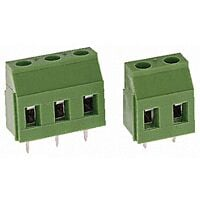 TE 282837-6 - Terminal Block 6 Pin PCB to Wire Pitch 5.08mm / 0.2inch - Green