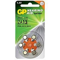 GP BATTERIES ZA13 - HEARING DEVICE BATTERY 1.4V 230mAh