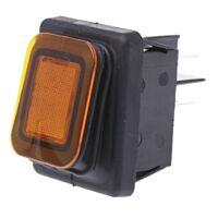MOLVENO 456-1688YE - Rocker Switch IP65 DPST Orange