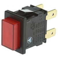 ARCOLECTRIC 749-2396YE - Push Button Switch DPST Red