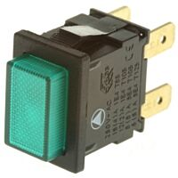 ARCOLECTRIC 749-2406YE - Push Button Switch DPST Green