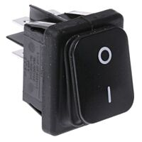 MOLVENO 793-2535YE - Rocker Switch IP65 DPST Black