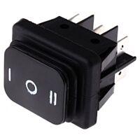 MOLVENO 793-2529YE - Rocker Switch IP65 DPDT Black