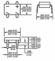 RECTRON DB106 - DIL-BRIDGE 1A 800V DB-1