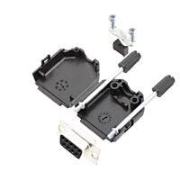 ENCITECH D15S-KIT - 15 Pin D sub connector Female / Solderable) - Connector Housing Black