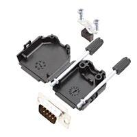ENCITECH D15P-KIT - 15 Pin D sub connector (Male / Solderable) - Connector Housing Black