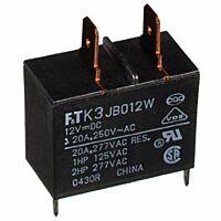 FUJITSU FTR-K3JB012W - PK-RELE 12VDC 20A TAB TERMINAL