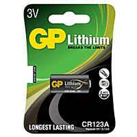GP BATTERIES CR123A-GP - LITHIUM-FOTOBATTERY 3V 1400 mAh