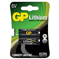 GP BATTERIES 2CR5-GP - LITHIUM-FOTOBATTERY 6V 1400 mAh