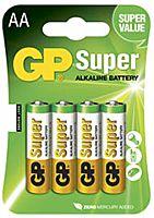 GP BATTERIES LR06-GP - Alkaliparisto LR06 AA SUPER 4 kpl