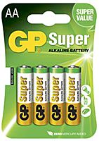 GP BATTERIES LR06-GP - ALKALINE CELL LR06 AA SUPER 4PCS