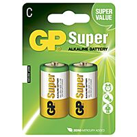 GP BATTERIES LR14-GP - Alkaliparisto LR14 C SUPER 2 kpl