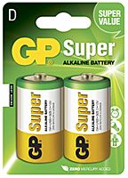 GP BATTERIES LR20-GP - Alkaliparisto LR20 D SUPER 2 kpl