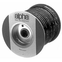 ALPHA PVC-105-1 IN BLACK - TUBE SLEEVING 25.40mm 15m BLACK