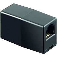 YES TEL-RJ11-MU - ADAPTOR SOCKET BLACK