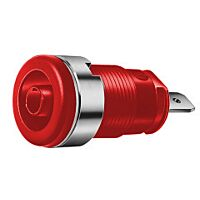 HIRSCHMANN SEB2610-F4.8-PU - SAFETY BUILT-IN SOCKET 4MM RED