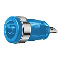 HIRSCHMANN SEB2610-F4.8-SI - SAFETY BUILT-IN SOCKET 4MM BLUE
