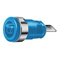 HIRSCHMANN SEB2620-F6.3-SI - SAFETY BUILT-IN SOCKET 4MM BLUE