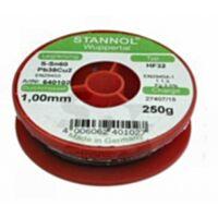 STANNOL SN60CU1-HF32-1.0-1 - JUOTE 1.0mm 100g  HF32 1C Sn60Pb39C