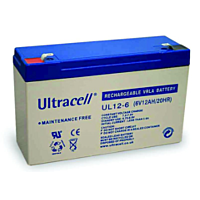 ULTRACELL UL12-6 - LEAD BATTERY 6V 12Ah 4-5 YEARS