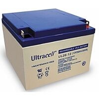 ULTRACELL UL26-12 - LEAD BATTERY 12V 26Ah 4-5 YEARS