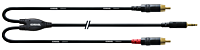 CORDIAL CFY0.9WCC - 3,5mm Stereoplugi - 2  x RCA U 0.9m