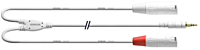 CORDIAL CFY3WMM-LONG-SNOW - 3.5mm St plugi-2 x XLR U 3m
