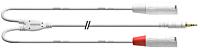 CORDIAL CFY1.5WMM-LONG-SNOW - 3.5mm St plugi-2 x XLR U 1.5m