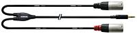 CORDIAL CFY1.5WMM-LONG - 3,5mm St plugi - 2x XLR Uros 1.5m