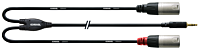 CORDIAL CFY3WMM-LONG - 3,5mm St plugi - 2x XLR Uros 3m