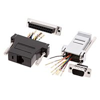 ENCITECH DA09-SMJ8-M-K-RC - Adapter 9 pin D sub Female to RJ45 connector