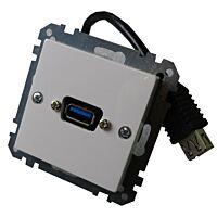 USB Seinärasia EXXACT-SCHNEIDER USB10003E - USB3 Rasiakaluste Häntäliittimellä