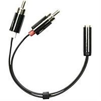 DELTACO AUD-204 - Naaras 3.5mm stereo / 2 x RCA uros