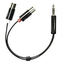 DELTACO AUD-205 - Plugi 3.5mm stereo / 2 x RCA naaras