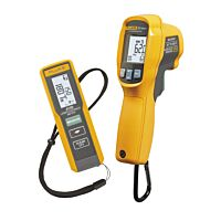 FLUKE 417D laser distance meter and FLUKE 62MAX+ IR thermometer kit