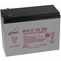 ENERSYS GENESIS NP10-12 LEAD BATTERY 12V 10AH 3-5 YEARS