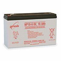 ENERSYS GENESIS NP10-6 LEAD BATTERY 6V 10AH 3-5 YEARS
