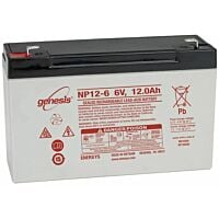 ENERSYS GENESIS NP12-6 LEAD BATTERY 6V 12AH 3-5 YEARS