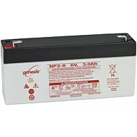 ENERSYS GENESIS NP3-6  LEAD BATTERY 6V 3.0AH 3-5 YEARS