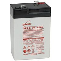 ENERSYS GENESIS NP4-6 LEAD BATTERY 6V 4.0AH 3-5 YEARS