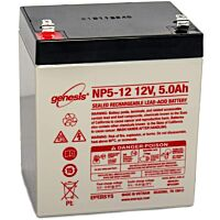 ENERSYS GENESIS NP5-12 LEAD BATTERY 12V 5.0AH 3-5 YEARS