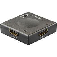 Deltaco HDMI-switch - HDMI-7002 - 3 in 1 Automatic