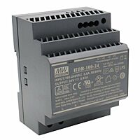 "MEAN WELL HDR-100-24 - DIN Rail ""Slim"" Power Supply 24V 3.83A 92W"