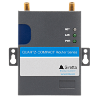 SIRETTA QUARTZ-COMPACT 3G/UMTS ROUTER 1 X LAN 1 X SIM 1 X  SERIAL I/O (NO WIFI)